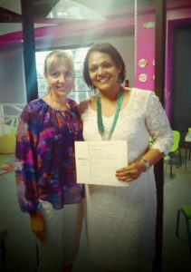 Shereen Idiculla receiving level 3 OPT certification