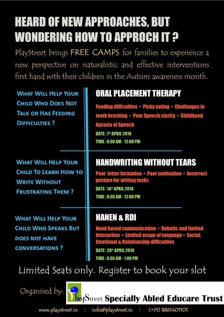 Free camps in April 2018